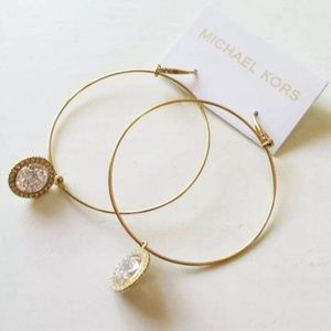 MK Brilliance Gold Tone Hoops